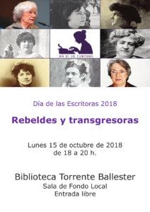 Torrente Ballester Día de las Escritoras 2018 Salamanca Octubre