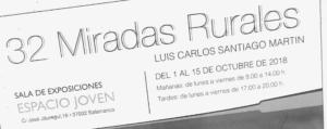 Espacio Joven 32 miradas rurales Salamanca Octubre 2018