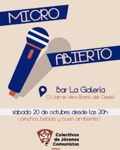 La Galería Micro Abierto Salamanca Octubre 2018
