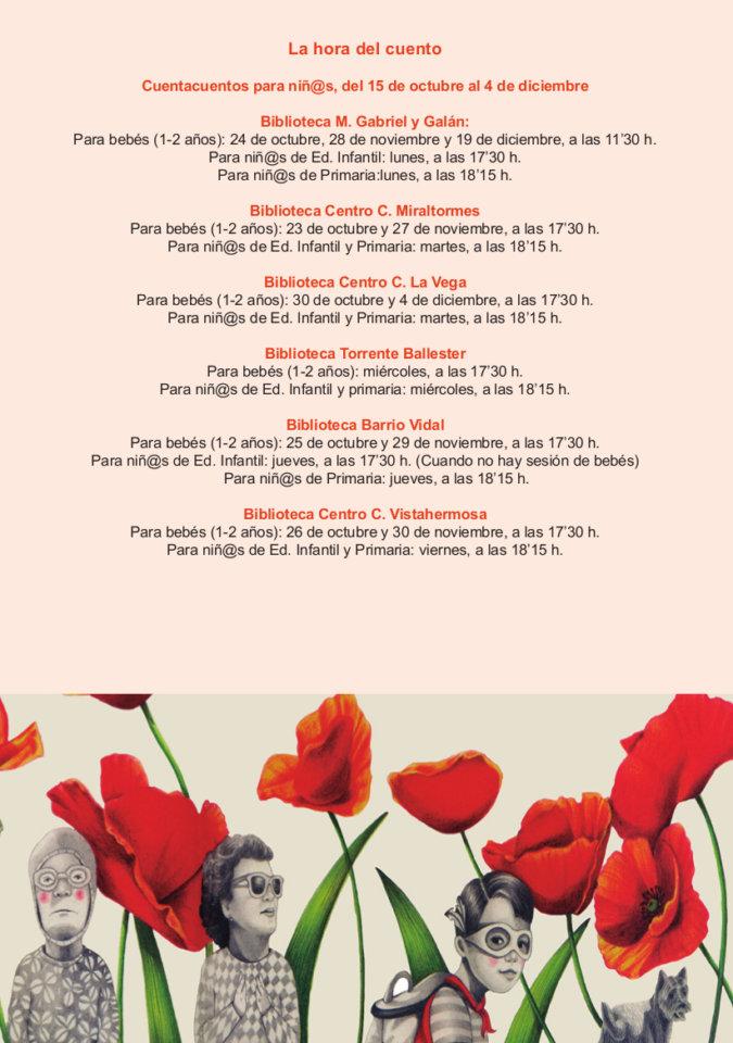 Salamanca La hora del cuento Octubre noviembre diciembre 2018