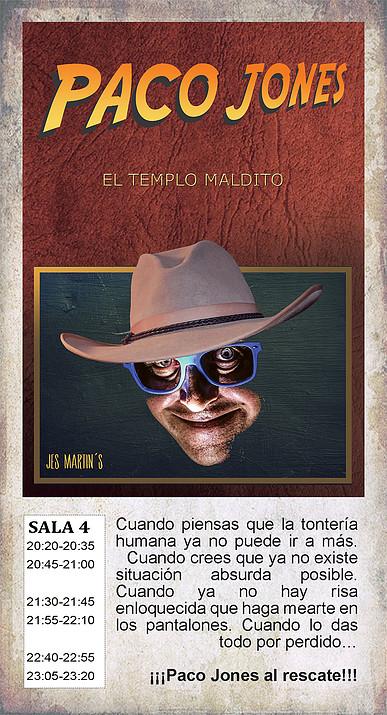 La Malhablada Paco Jones y el templo maldito Salamanca Octubre 2018