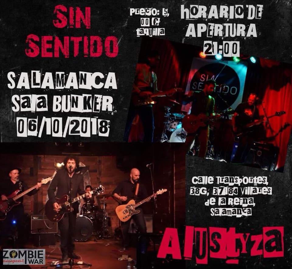 Nave Bunker Alustyza + Sin Sentido Villares de la Reina Octubre 2018