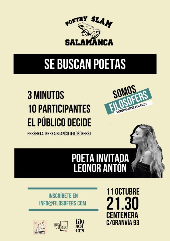 Centenera Poetry Slam Salamanca Octubre 2018
