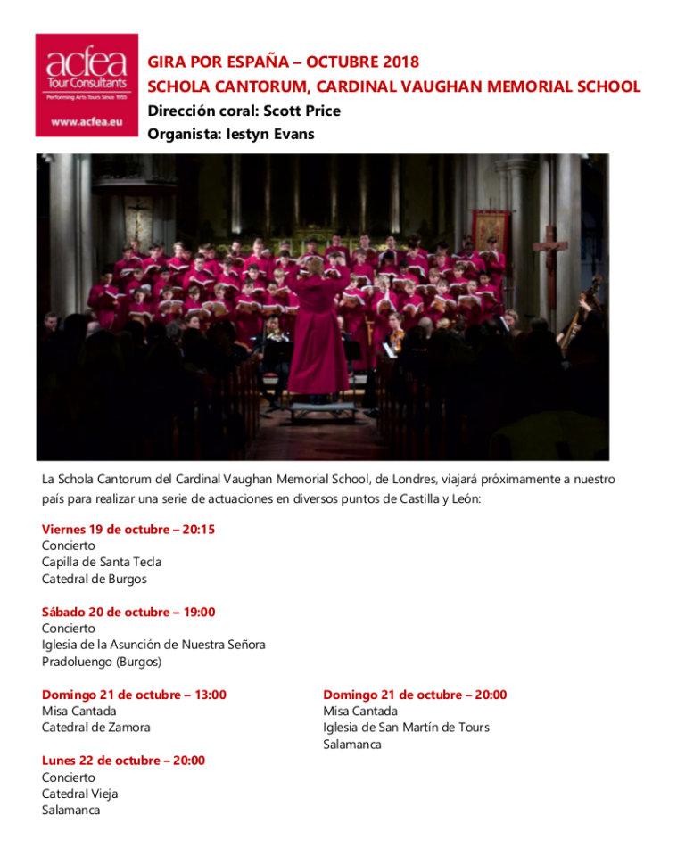 Schola Cantorum Salamanca Octubre 2018