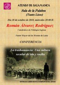 Teatro Liceo Román Álvarez Rodríguez Ateneo de Salamanca Octubre 2018