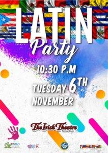 The Irish Theatre Latin Party Salamanca Noviembre 2018