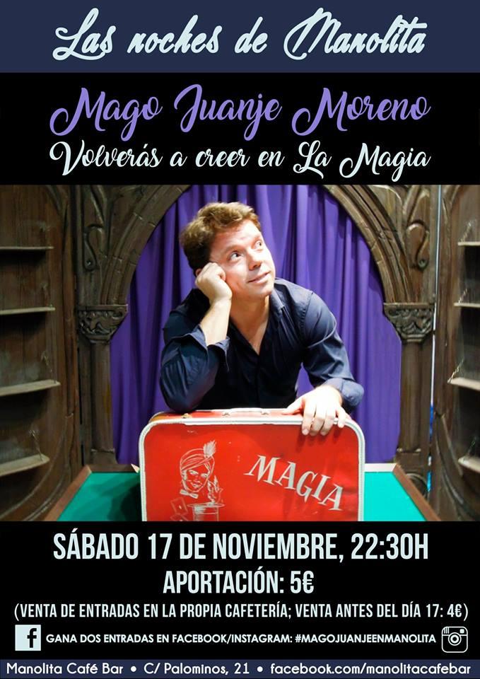 Manolita Café Bar Las noches de Manolita Mago Juanje Salamanca Noviembre 2018