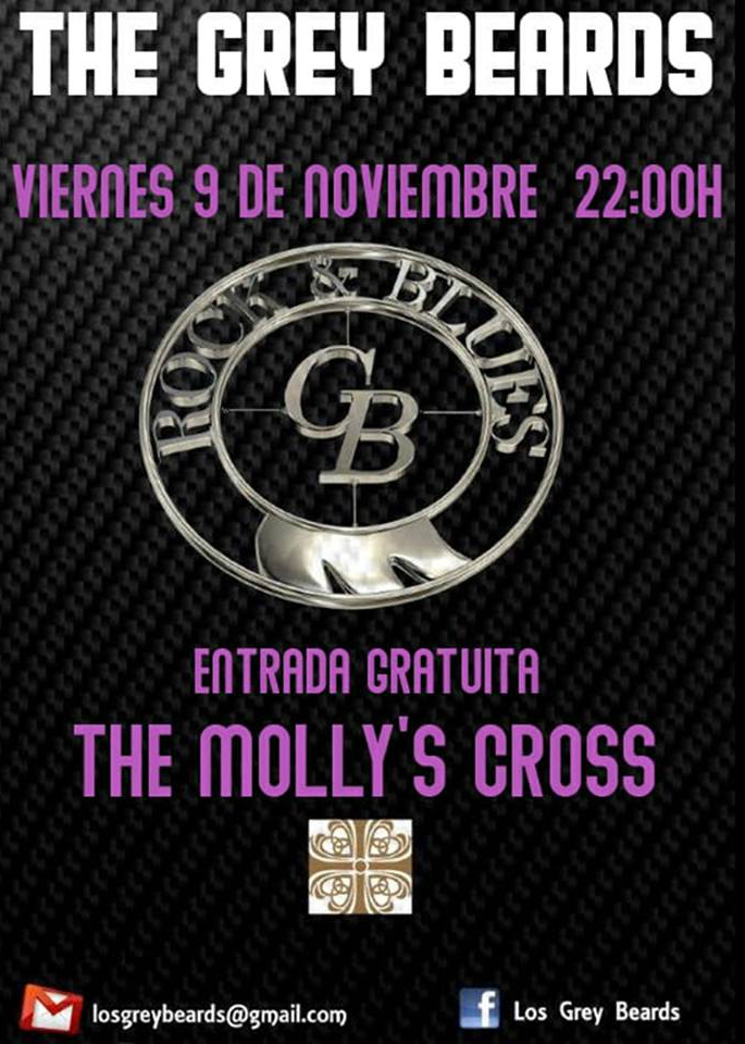 The Molly's Cross The Grey Beards Salamanca Noviembre 2018