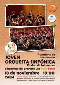 Centro de las Artes Escénicas y de la Música CAEM Joven Orquesta Sinfónica Ciudad de Salamanca Noviembre 2018