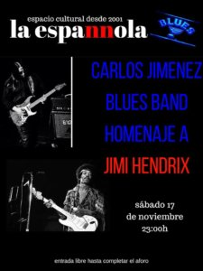 La Espannola Carlos Jiménez Blues Band Salamanca Noviembre 2018