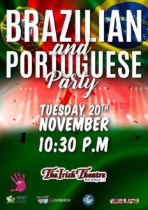 The Irish Theatre Brazilian and Portuguese Party Salamanca Noviembre 2018