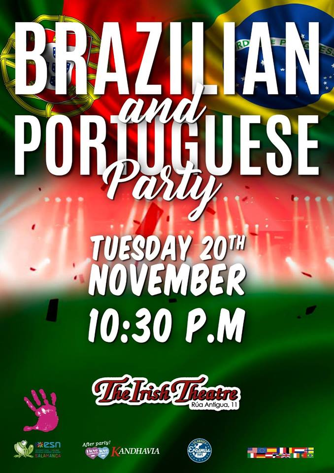 The Irish Theatre Brazilian and Portuguese Party Salamanca Noviembre 2018
