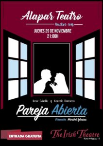 The Irish Theatre Alapar Teatro Pareja abierta Salamanca Noviembre 2018