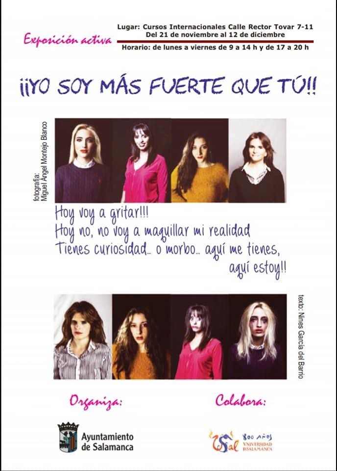 Cursos Internacionales ¡¡Yo soy más fuerte que tú!! Salamanca Noviembre diciembre 2018
