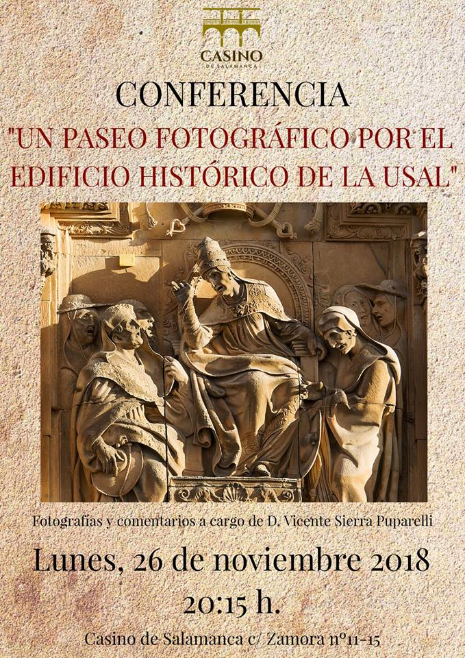 Casino de Salamanca Vicente Sierra Puparelli Noviembre 2018