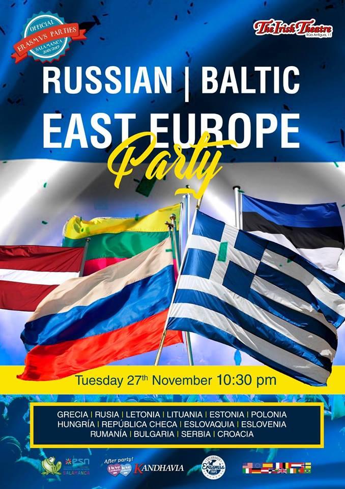 The Irish Theatre Fiesta Griega, Rusa, Báltica y este y centro de Europa Salamanca Noviembre 2018