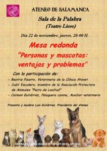 Teatro Liceo Personas y mascotas: Ventajas y problemas Ateneo de Salamanca Noviembre 2018