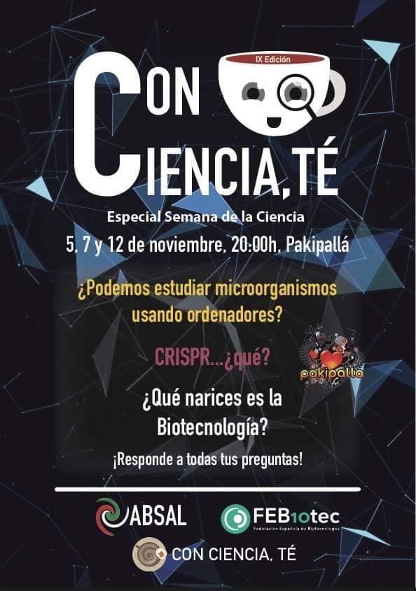 Pakipalla Con Ciencia, Té Salamanca Noviembre 2018
