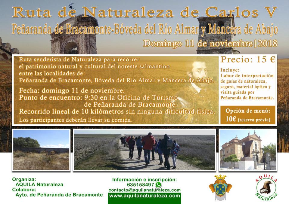Peñaranda de Bracamonte Ruta de Naturaleza de Carlos V Aquila Naturaleza Noviembre 2018
