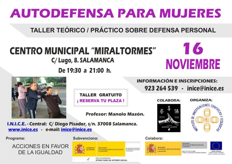 Miraltormes Autodefensa para mujeres Salamanca Noviembre 2018