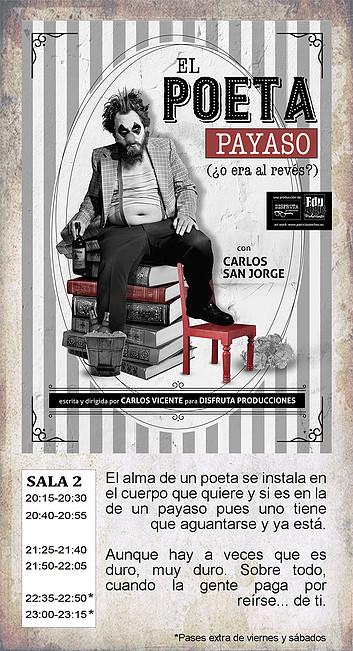 La Malhablada El poeta payaso Salamanca Noviembre 2018