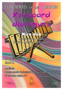 Conservatorio Profesional de Música de Salamanca Keyboard dialogues Noviembre 2018