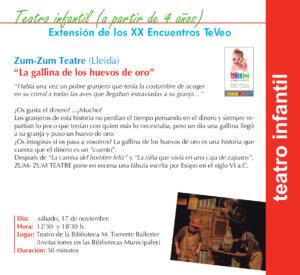 Torrente Ballester Zum-Zum Teatre Salamanca Noviembre 2018