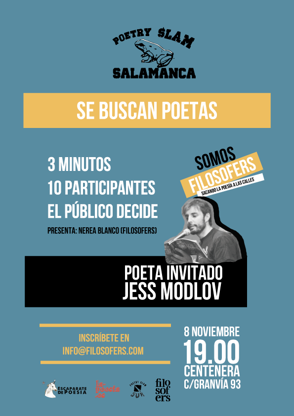 Centenera Poetry Slam Salamanca Noviembre 2018
