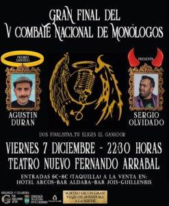 Ciudad Rodrigo V Combate Nacional de Monólogos Diciembre 2018