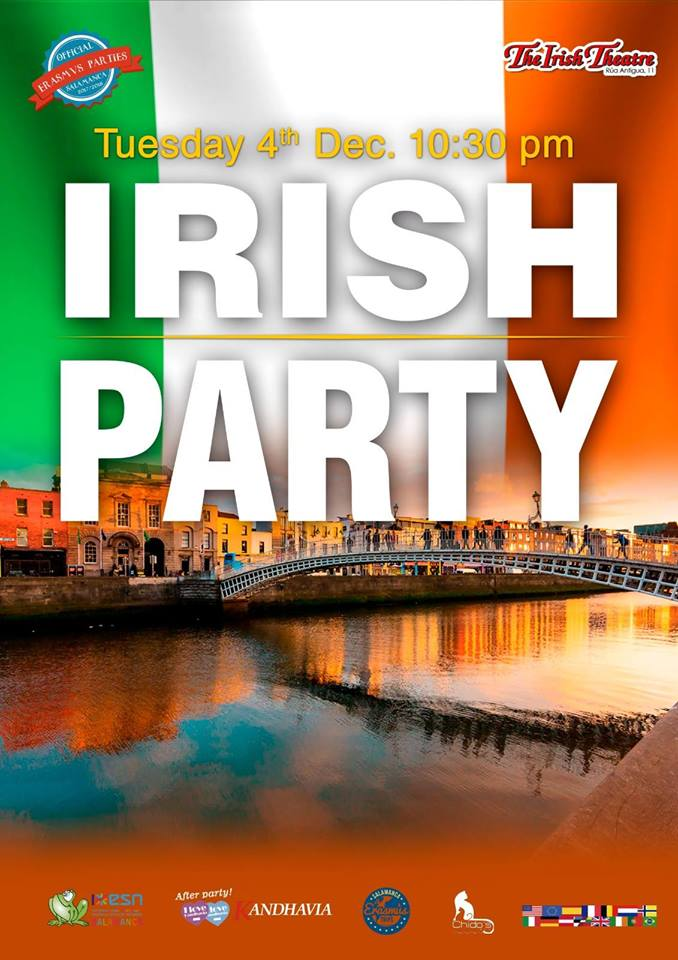 The Irish Theatre Irish Party Salamanca Diciembre 2018