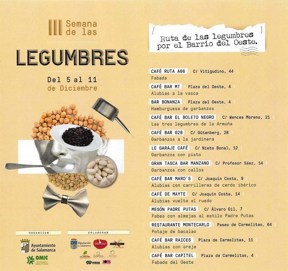 Salamanca Ruta de las Legumbres por el Barrio del Oeste Diciembre 2018