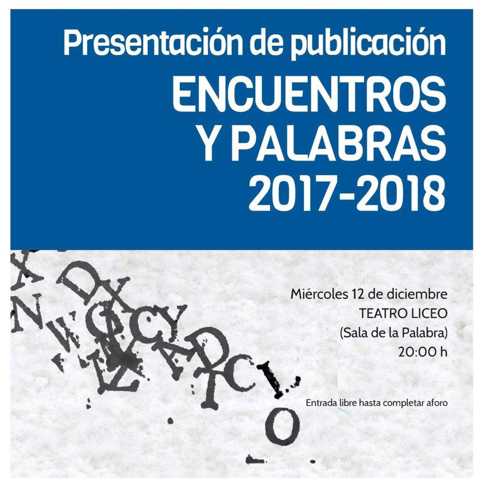 Teatro Liceo Encuentros y Palabras 2017-2018 Pentadrama Salamanca Diciembre