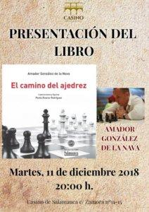 Casino de Salamanca El camino del ajedrez Diciembre 2018