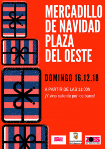 Plaza del Oeste Mercadillo Navideño Salamanca Diciembre 2018