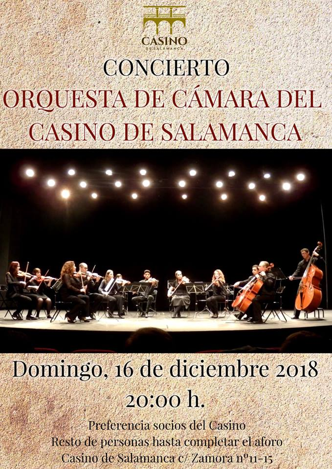Casino de Salamanca Orquesta de Cámara Diciembre 2018