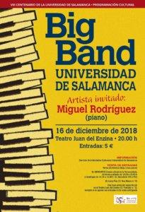 Aula Teatro Juan del Enzina Big Band Universidad de Salamanca Diciembre 2018
