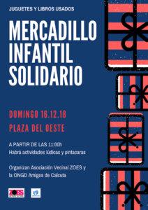 Plaza del Oeste Mercadillo Infantil Solidario Salamanca Diciembre 2018