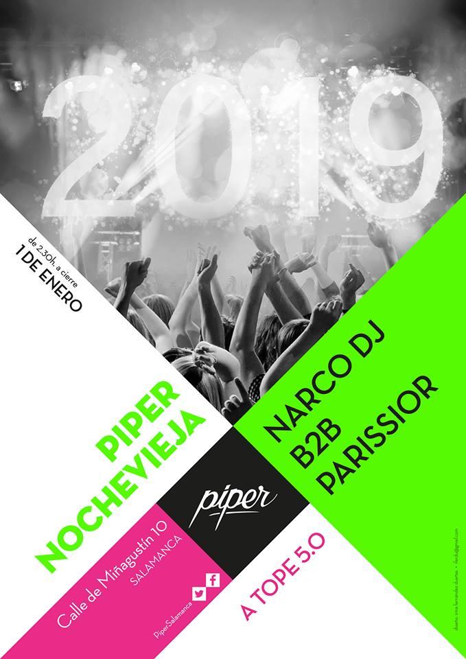 Piper Club Nochevieja Salamanca Enero 2019