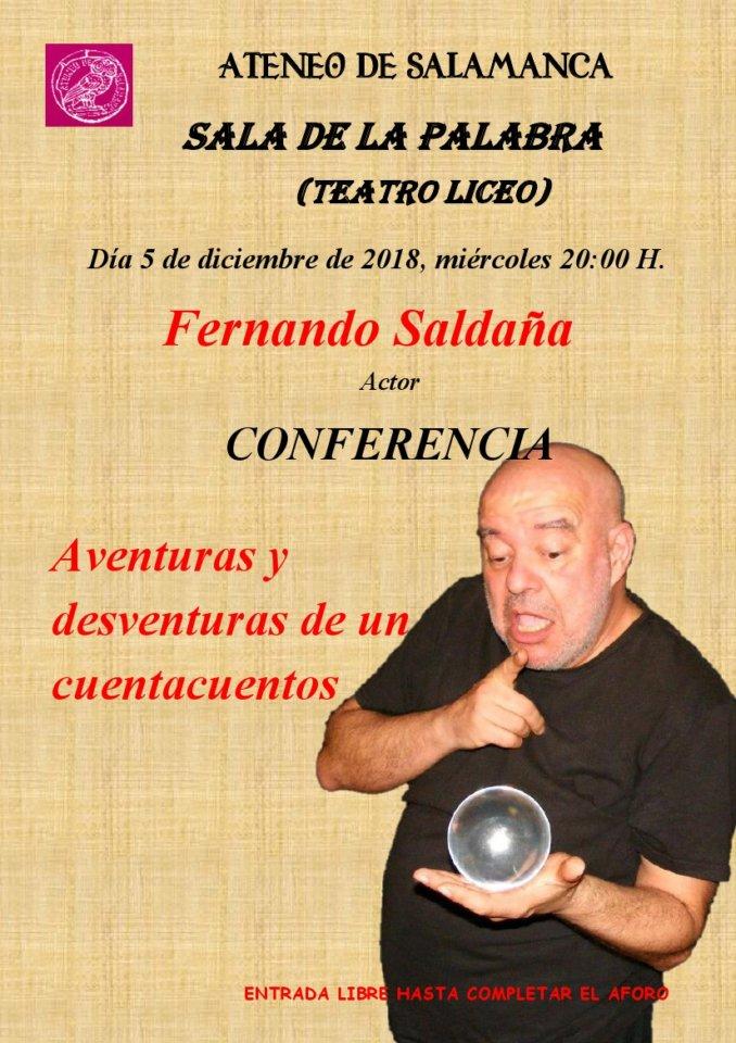 Teatro Liceo Aventuras y desventuras de un cuentacuentos Ateneo de Salamanca Diciembre 2018