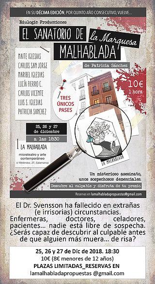 La Malhablada El sanatorio de la marquesa Malhablada Salamanca Diciembre 2018