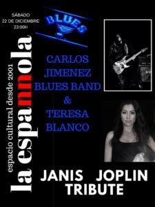La Espannola Carlos Jiménez Blues Band + Teresa Blanco Salamanca Diciembre 2018