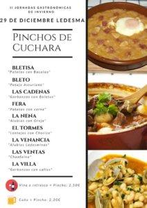 Ledesma II Jornadas Gastronómicas de Invierno Pinchos de Cuchara Diciembre 2018