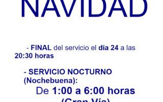 El servicio de transporte urbano de Salamanca para por Navidad 2018