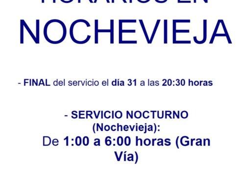 El servicio de transporte urbano de Salamanca para por Nochevieja 2018.