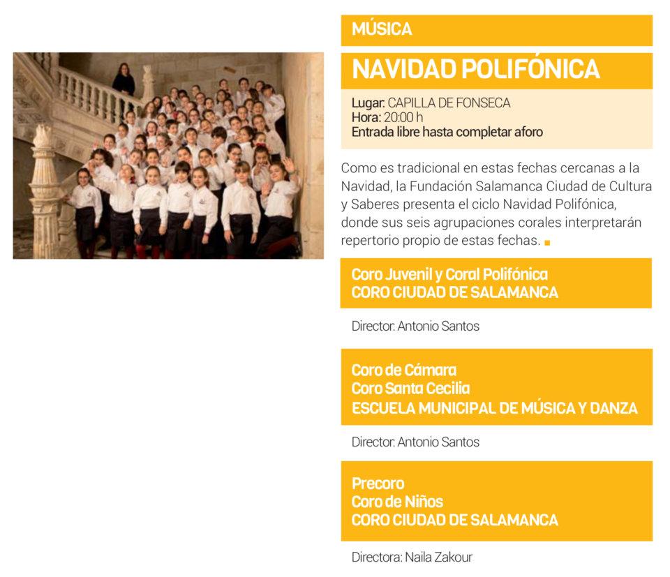 Colegio Arzobispo Fonseca Navidad Polifónica Salamanca Diciembre 2018