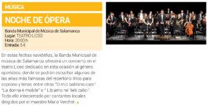 Teatro Liceo Noche de Ópera Salamanca Diciembre 2018
