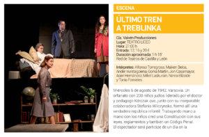 Teatro Liceo Último tren a Treblinka Salamanca Diciembre 2018