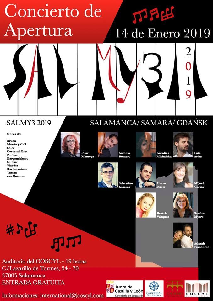 Conservatorio Superior de Música de Castilla y León COSCYL Festival Salmy3 14 de enero de 2019