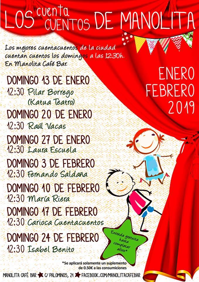 Manolita Café Bar Los cuentacuentos de Manolita Salamanca Enero febrero 2019