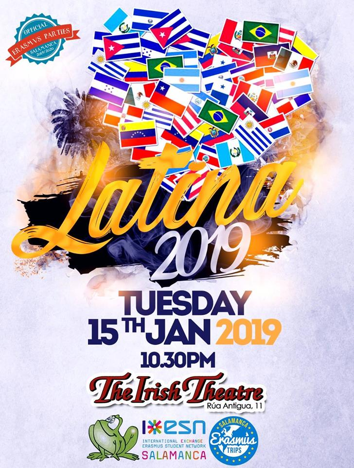 The Irish Theatre Fiesta Latina Salamanca Enero 2019